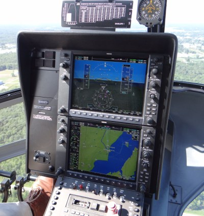 The Enstrom 480B-G helicopter is equipped with the Garmin G1000H, offering glass cockpit capability. Enstrom Photo