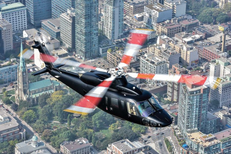 The twin-engine Sikorsky S-76D introduced cutting edge technology, including a quiet tail rotor and improved main rotor blades for reduced acoustic levels. Mike Reyno Photo
