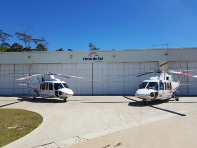 The addition of the offshore configured Sikorsky S-76C+ helicopter will follow a previous lease agreement for a similar offshore S-76C+. Costa do Sol Photo