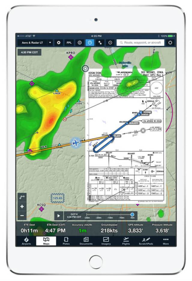 Pilot situational awareness improved by SD and ForeFlight data integration-compatible with an iPad or iPhone. Satcom Direct Photo