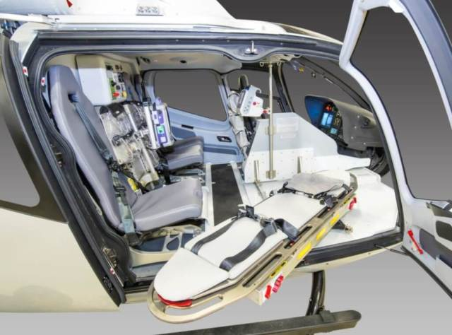 The LifePort lightweight medical interior for the H130 has now been certified by the FAA. LifePort Photo