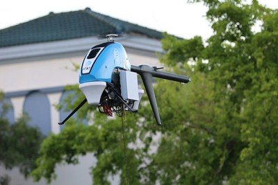 The Pulse Vapor 55 drone functions like a cell tower in the sky, restoring voice, data and internet service. FAA Photo