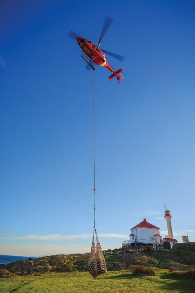 The Coast Guard recently secured permission to lift an additional 500 pounds over the previous maximum external load. Mike Reyno Photo