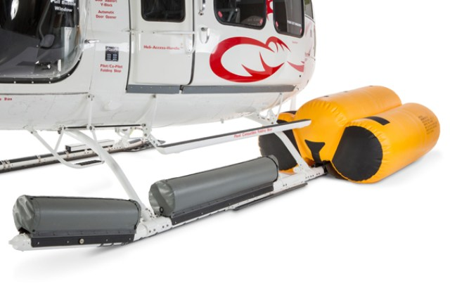 This emergency flotation system has longer maintenance intervals and improved safety and weight reduction of its integrated life raft. DART Aerospace Photo