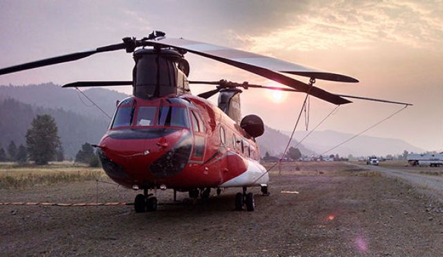Now in use on Helimax's CH47D aircraft, its underslung bucket ATU onboard tracking system will now allow tracking of 2,000 gallons of bucket data to the same requirements of aerial tanks. Helimax Aviation Photo