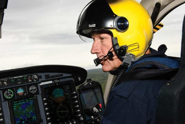 Mosher has flown for the Coast Guard for almost 30 years. Like many Coast Guard pilots, he has thousands of flight hours under his belt. Mike Reyno Photo