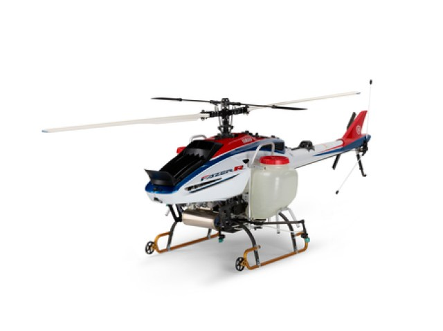 The FAZER R is an industrial unmanned helicopter for highly precise spraying. Yamaha Motor Photo
