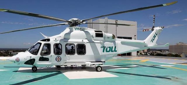 The Bankstown helicopter base houses eight AW139s that are ready to respond to any mission in New South Wales. Toll Group Photo