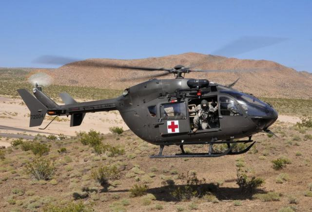 A military version of the civil EC145 helicopter, the UH-72A was competitively selected in 2006 for operations in non-hostile, non-combat environments. Skip Robinson Photo
