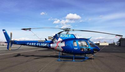 Med-Trans now operates four Airbus AStar helicopters for Care Flight. Med-Trans Photo