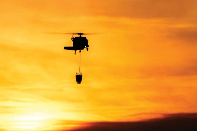 A large number of Type-1 helicopters, including civil and National Guard Black Hawks, were critical to bringing the fight to the Thomas Fire. MSAVI Photography