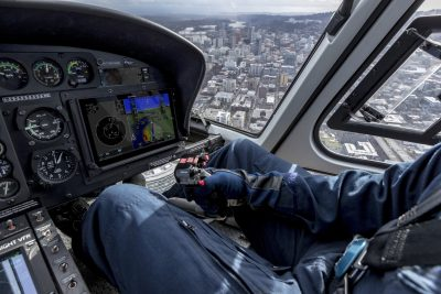 the G500H TXi is equipped with a five-color Helicopter Terrain Awareness and Warning System1 (HTAWS), WireAware wire-strike avoidance technology and Garmin HSVT 3D synthetic vision.