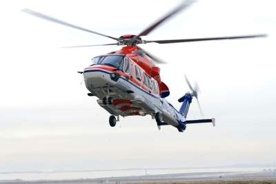 An LCI Airbus H175 in operation with CHC. LCI Photo