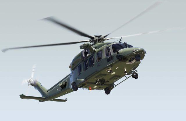 A Leonardo Helicopters AW149 with added military equipment. Leonardo Photo