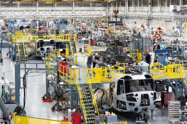 Six CH-53K aircraft are currently being built in at Sikorsky's Connecticut plant, with another 36 in various stages of production. Lockheed Martin Photo