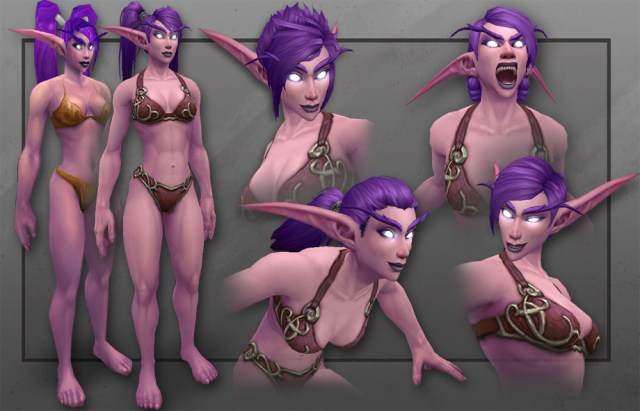 Musclier Hairier And Wearing Better Undies Meet Wows New Night Elf