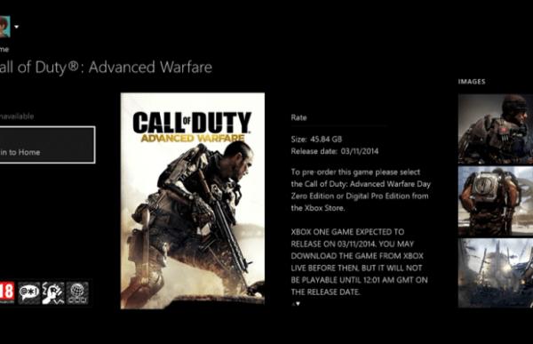 advanced warfare xbox file size