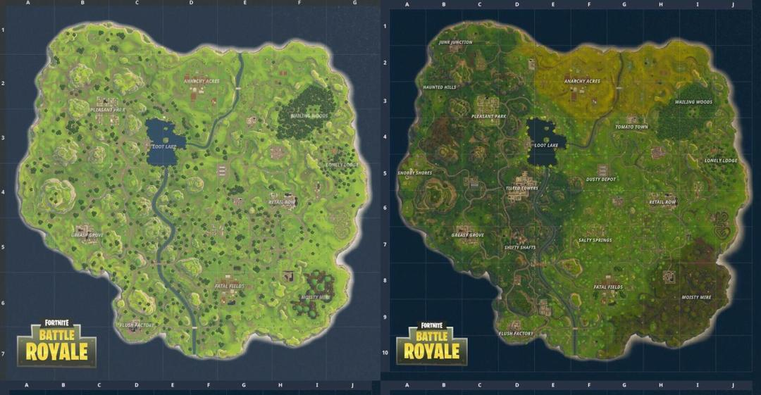 Fortnite: old map vs new map – where is the underground mine and other new locations?