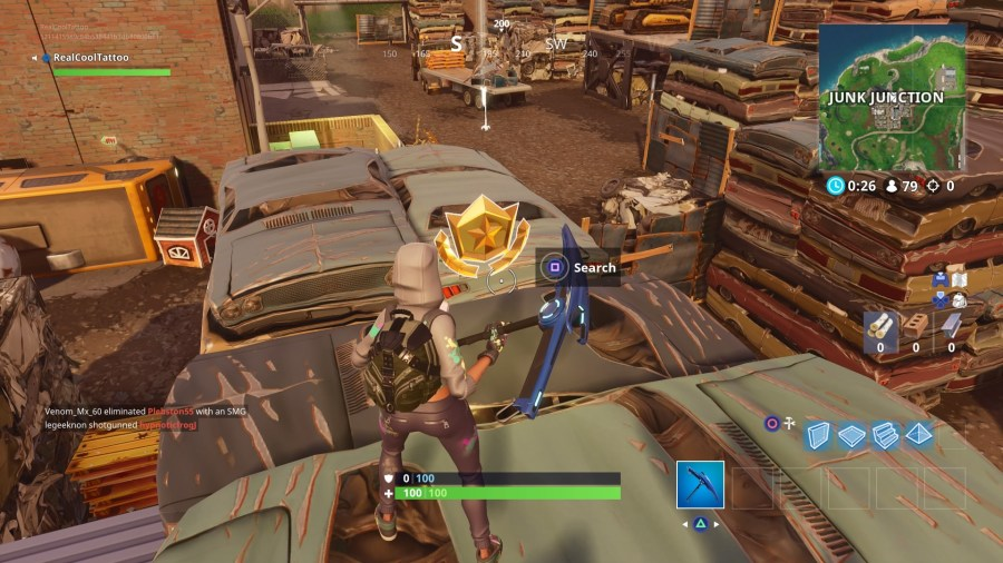Fortnite  Haunted Hills Treasure Map Location   how to follow the     When you re done with the hidden Battle Star  it s time to try and visit  the center of Named Locations in a single match     check out our guide if  you re