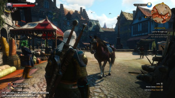 The Witcher 3 Switch update adds cross-save with PC, additional graphics options