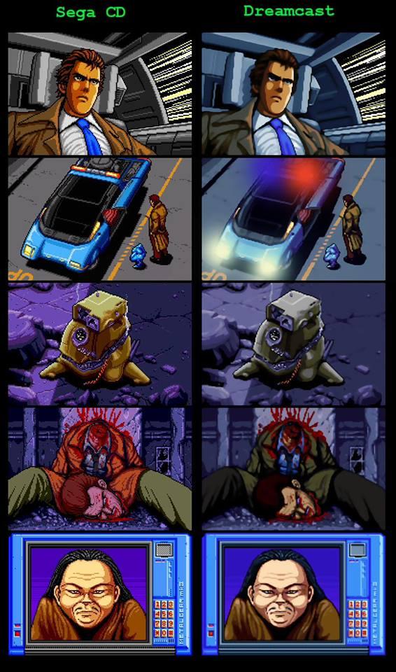 Snatcher HD Remake In Development For Dreamcast Comparison Shots Posted VG247