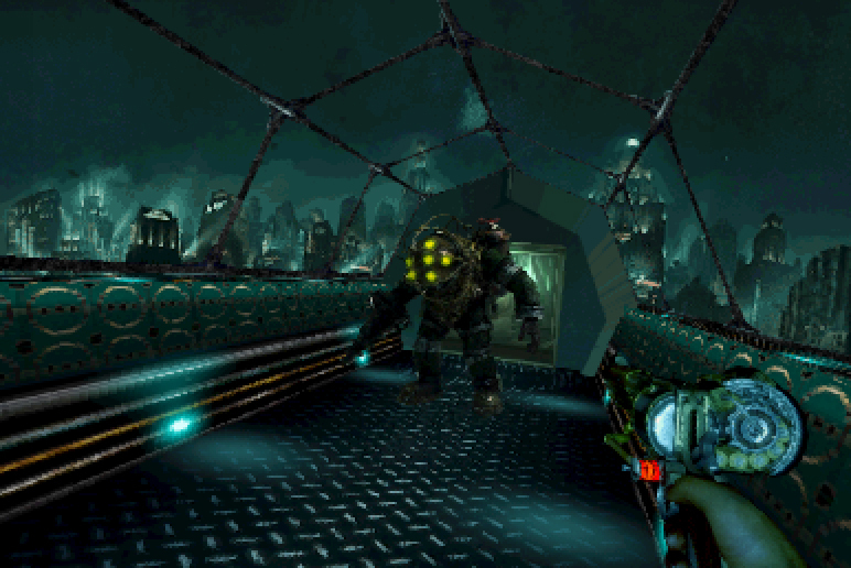 BioShock As A PSOne Game Makes Big Daddy Look Less