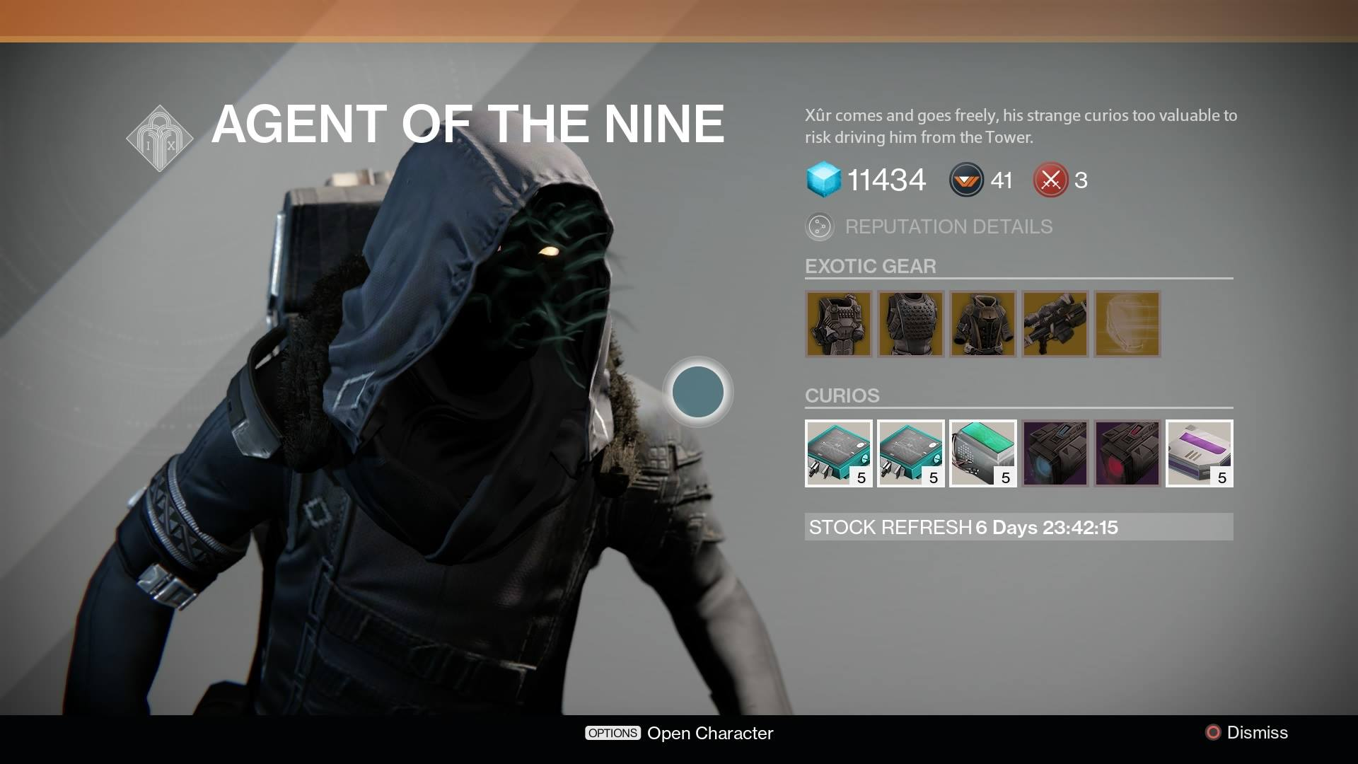 Destiny Xur Location And Inventory For October 31