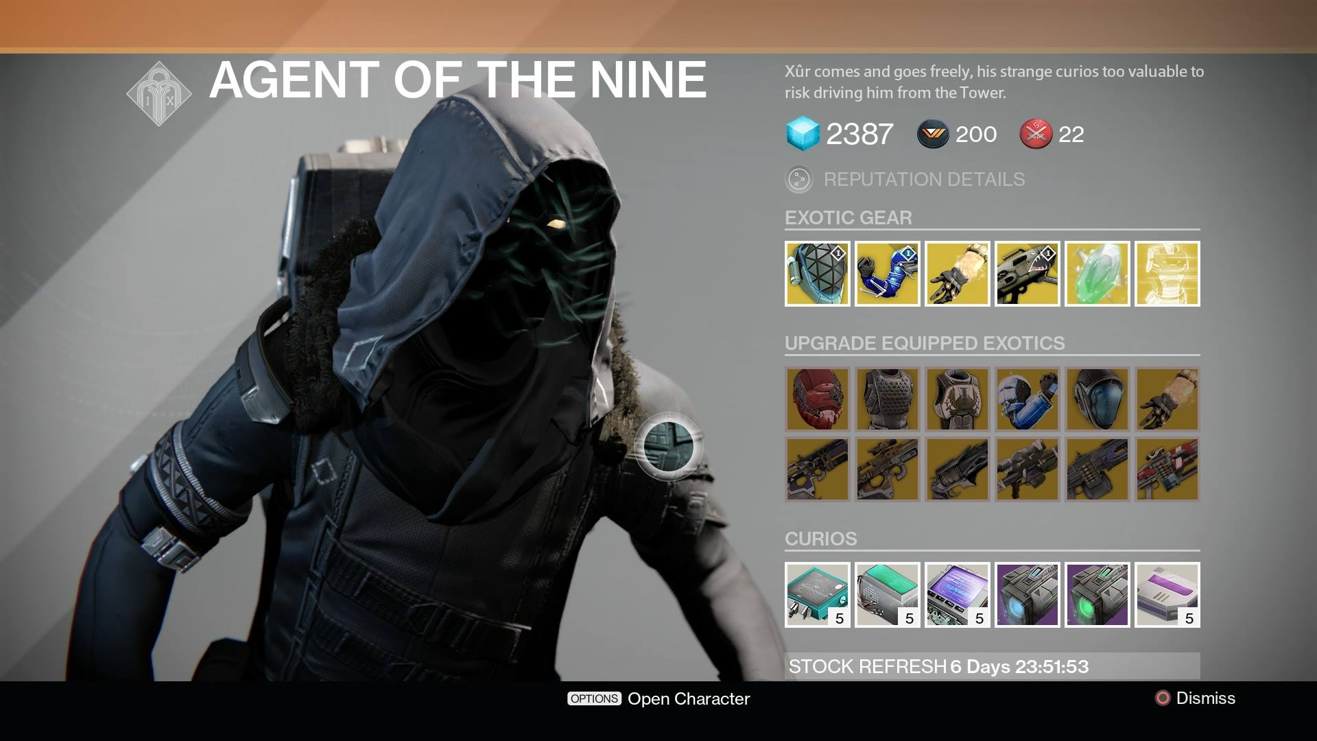 Destiny Xur Location And Inventory For April 3 4