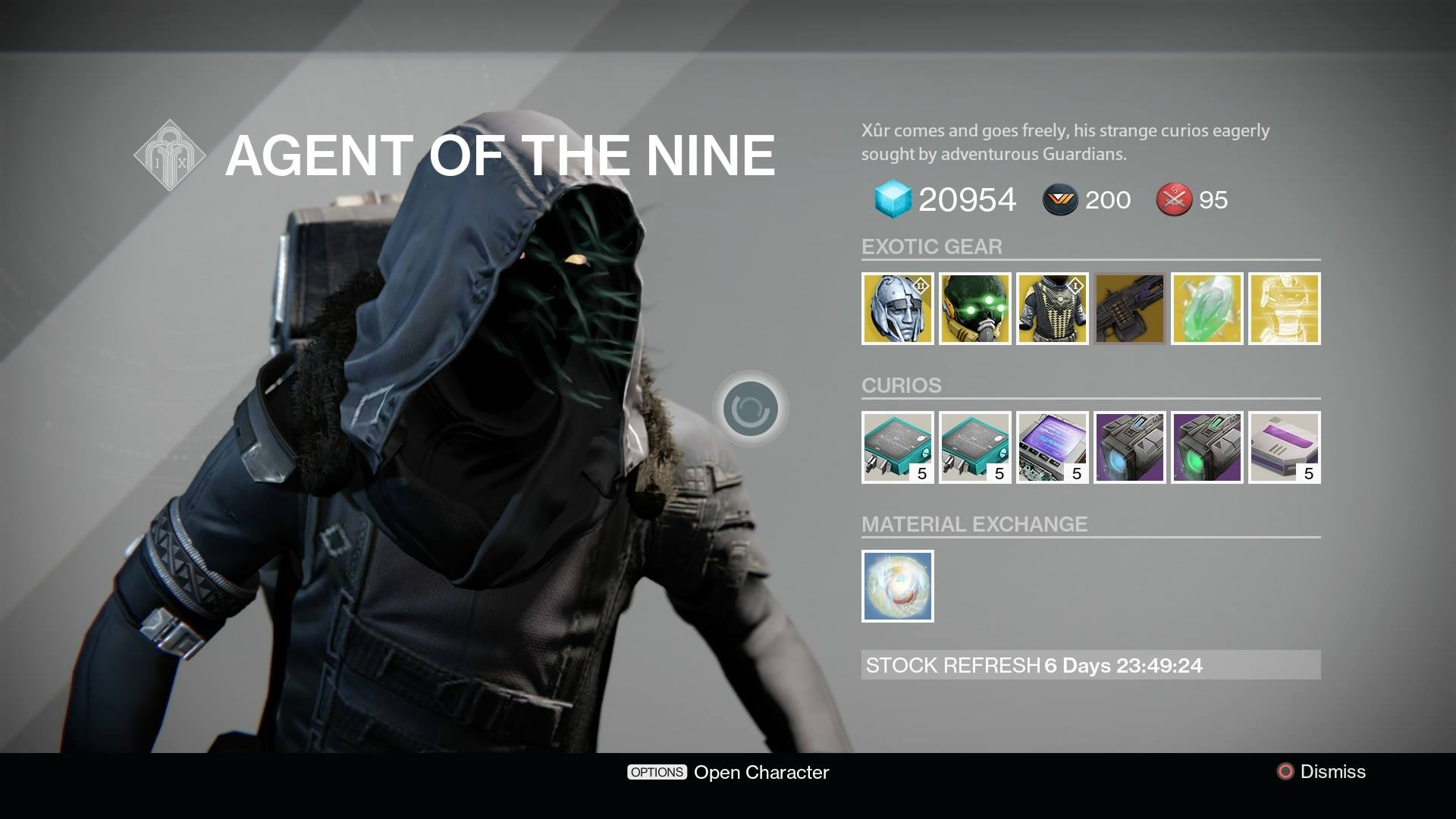 Destiny Xur Location And Inventory For August 21 22 VG247