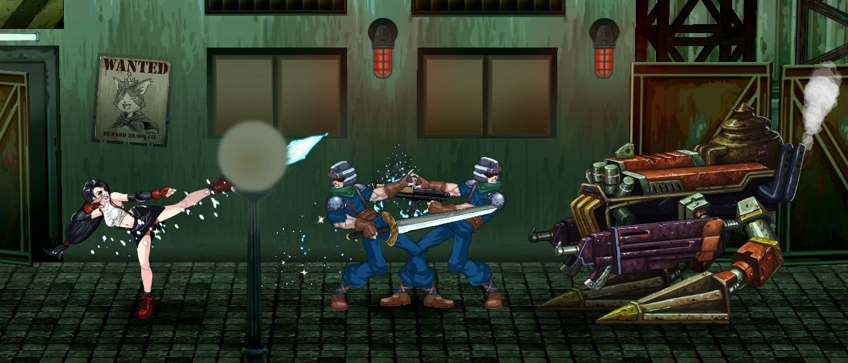 Heres Final Fantasy 7 Re Imagined As A 2D Side Scrolling Beat Em Up VG247