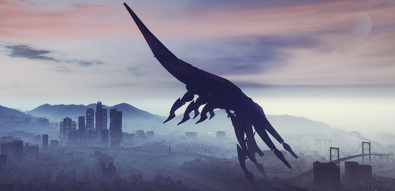 GTA 5 Mod Replaces The Blimp With Mass Effect 3s Reaper