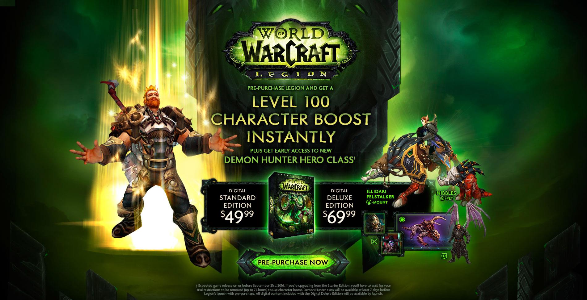 World Of Warcraft Legion Slated For September 2016