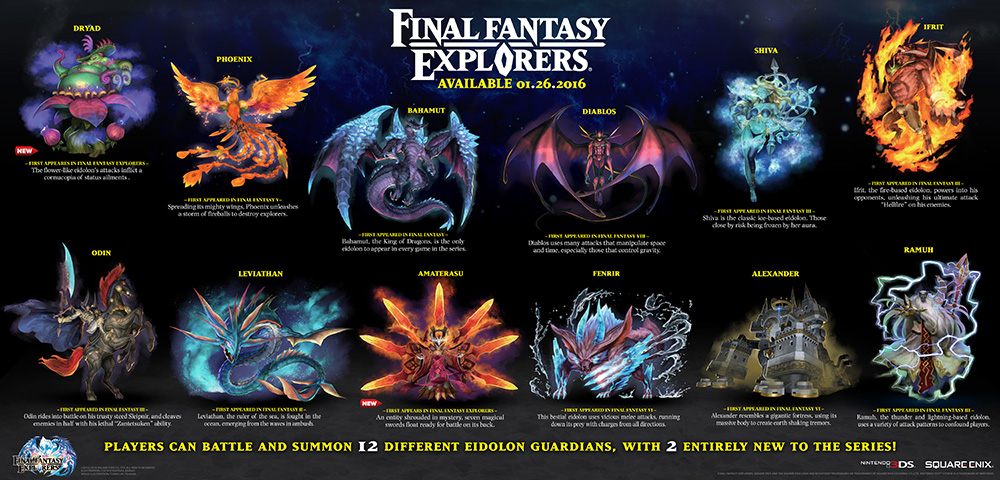 Have A Look At All 12 Eidolons In Final Fantasy Explorers VG247