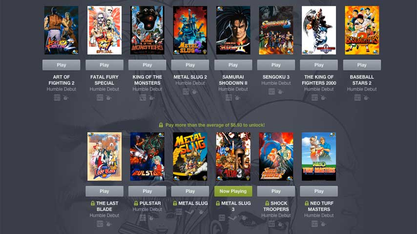 21 NEOGEO Games On Offer In Latest Enormous Humble Bundle