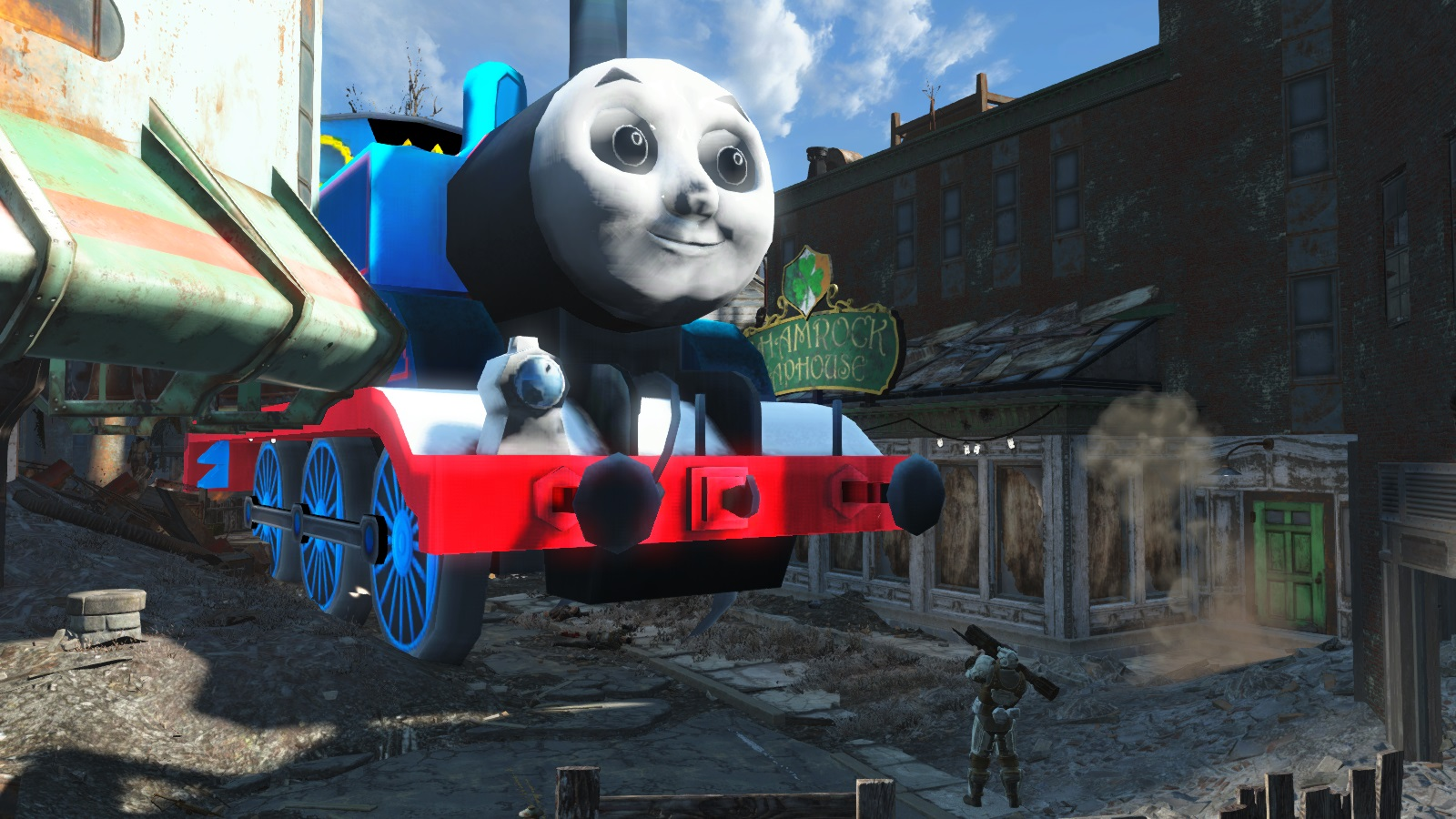 Fallout 4 Mod Replaces Most Things With Thomas The Tank Engine VG247