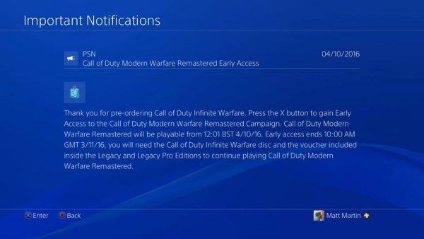 Call Of Duty Modern Warfare Remastered Campaign Now Live On PS4 Infinite Warfare Disc Required