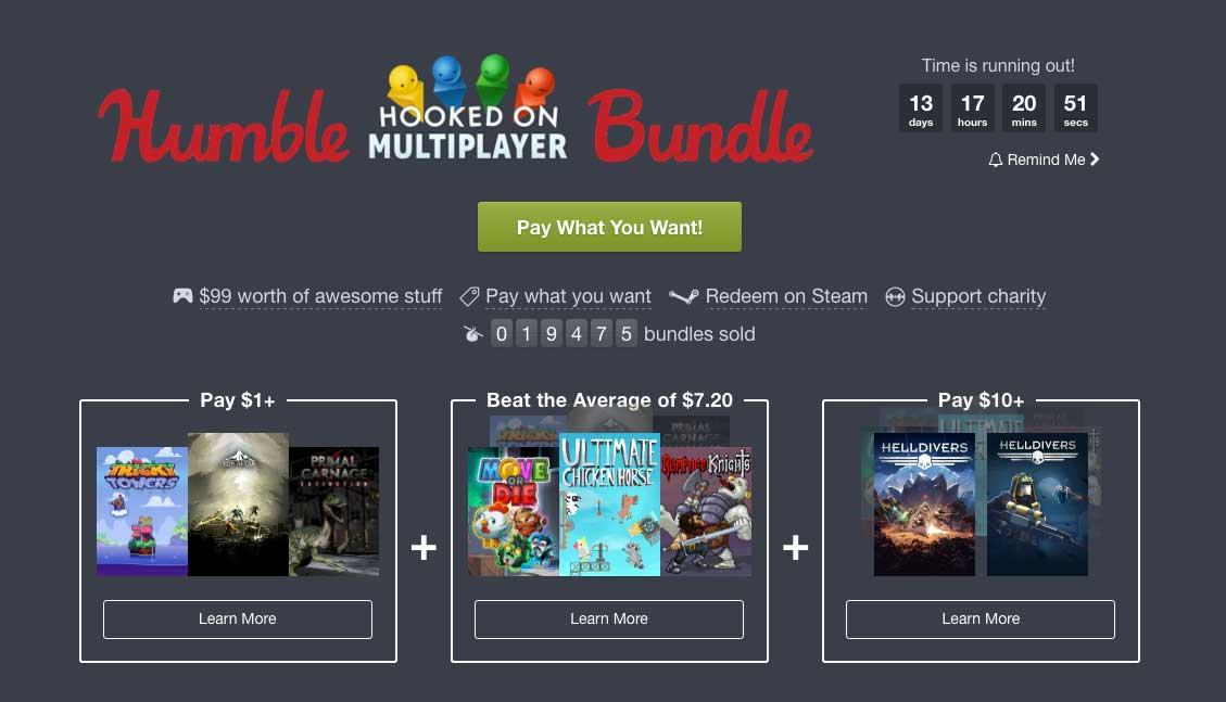 Latest Humble Bundle Packed With Multiplayer Fun And