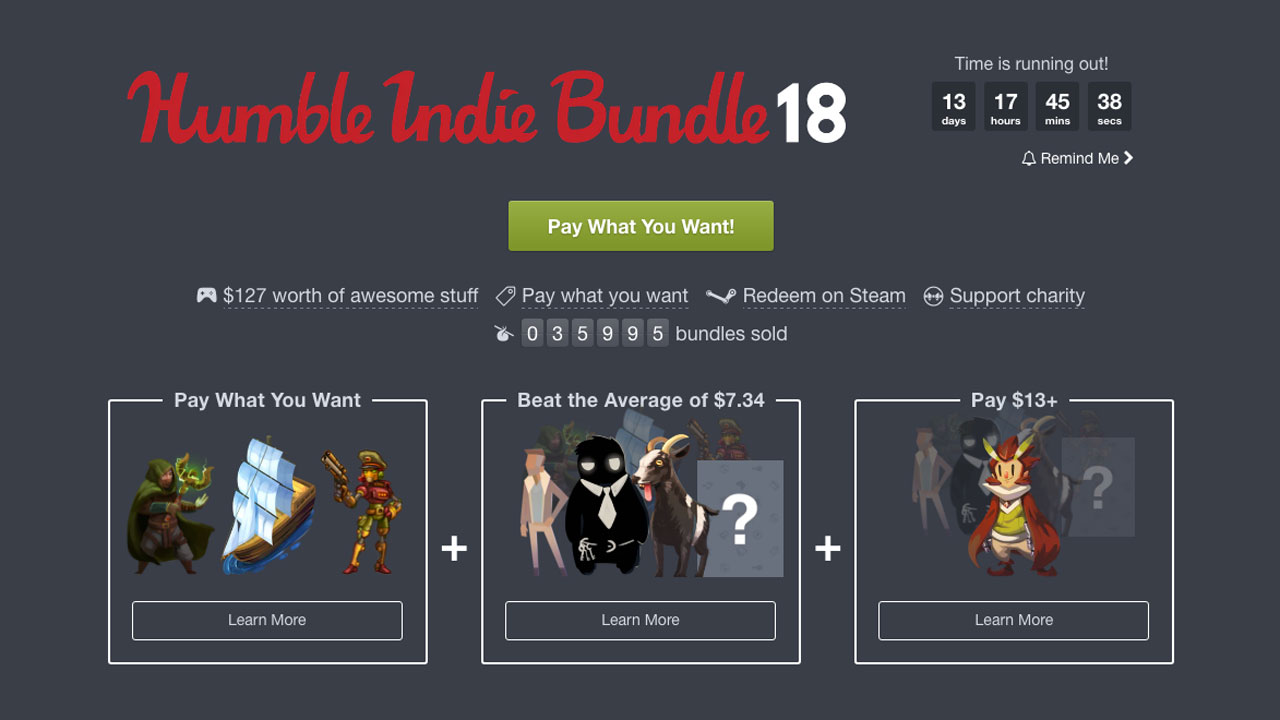 Humble Bundle Is Back In Its Purest Form This Week And