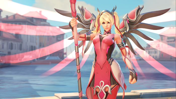 Overwatch Pink Mercy Skin Sales To Support Breast Cancer