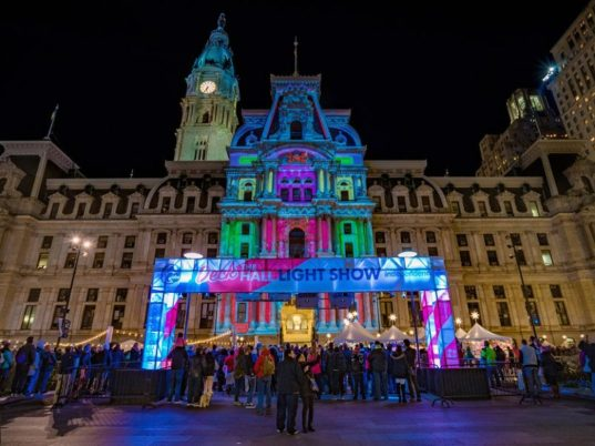 Image result for Deck the Halls Light Show at City Hall
