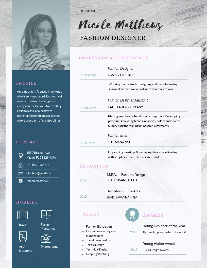 Free Resume Maker Resume Builder Visme