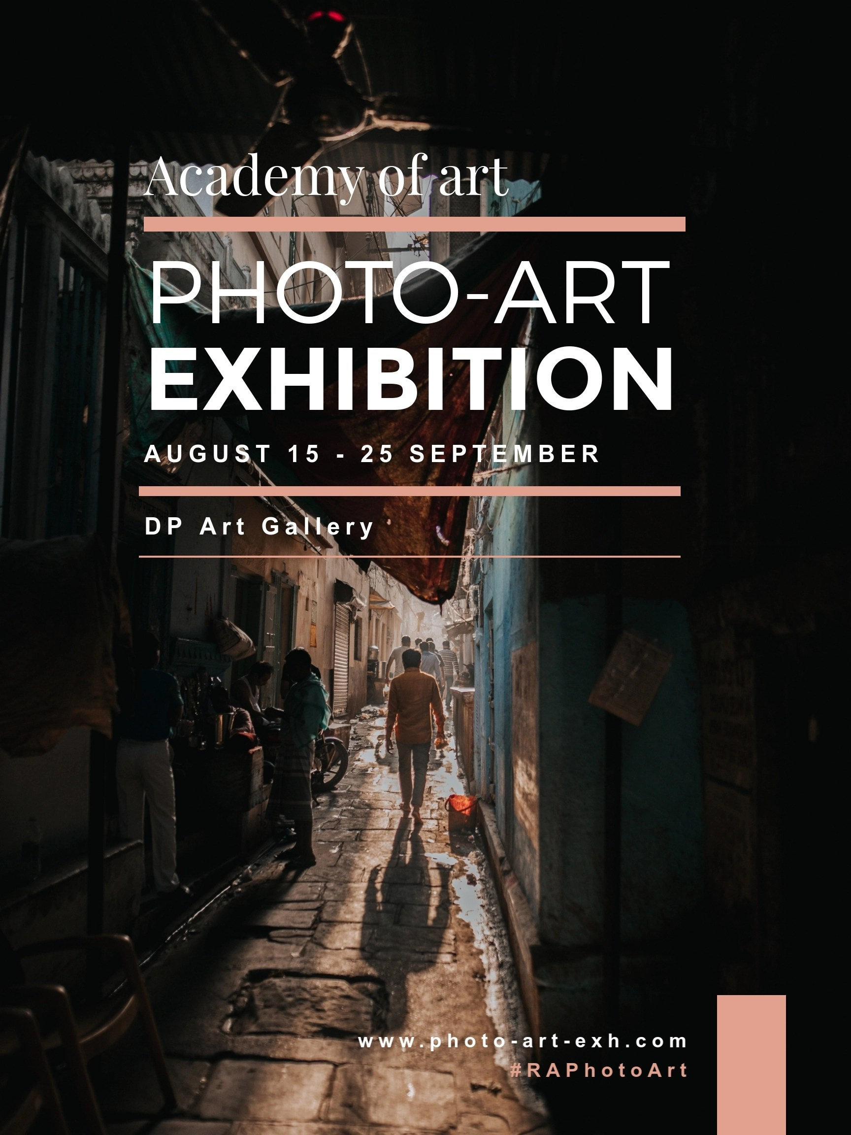 photo art exhibition poster template