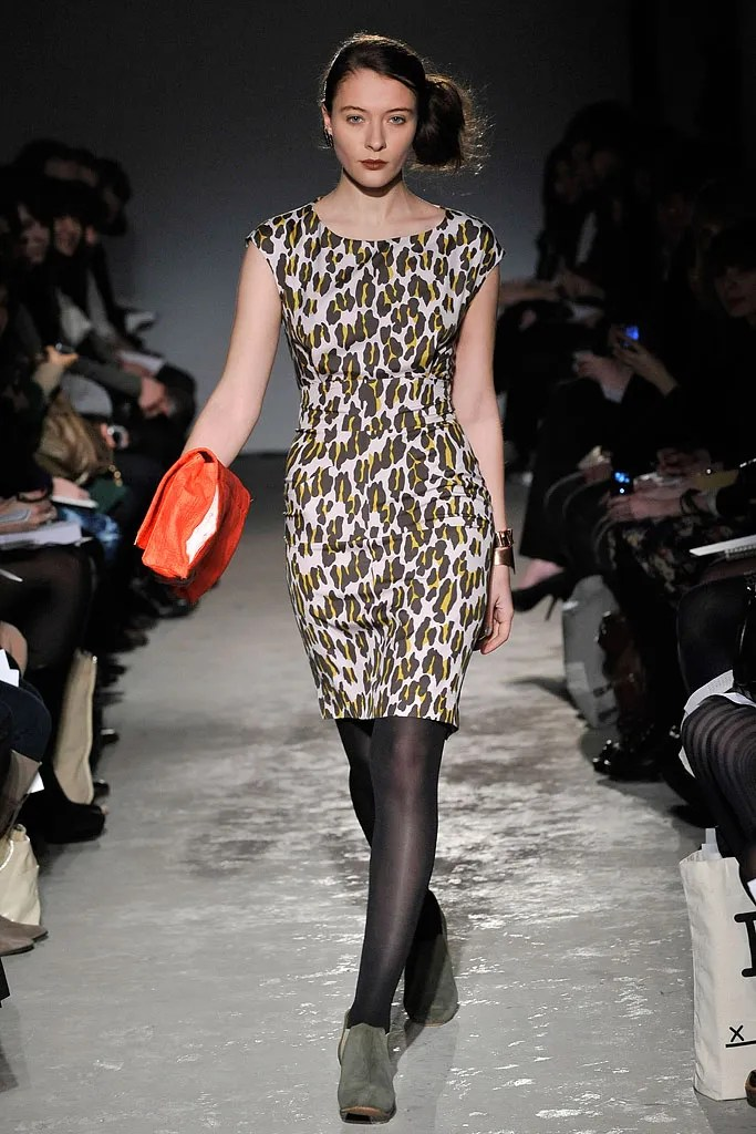 Leopard-print dress from Rachel Comey's Fall 2009 collection, as worn by Timoxa Timoschenko