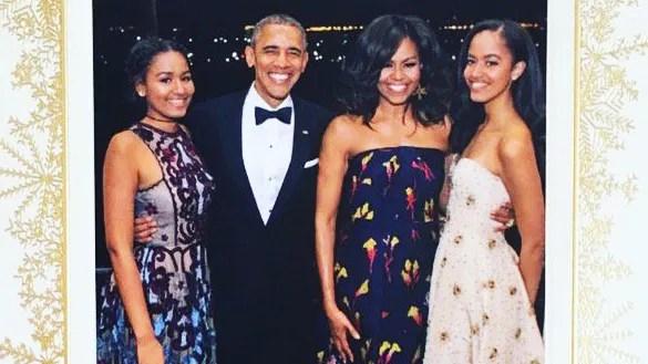 The Obamas Reveal Their 2016 Family Christmas Card Vogue