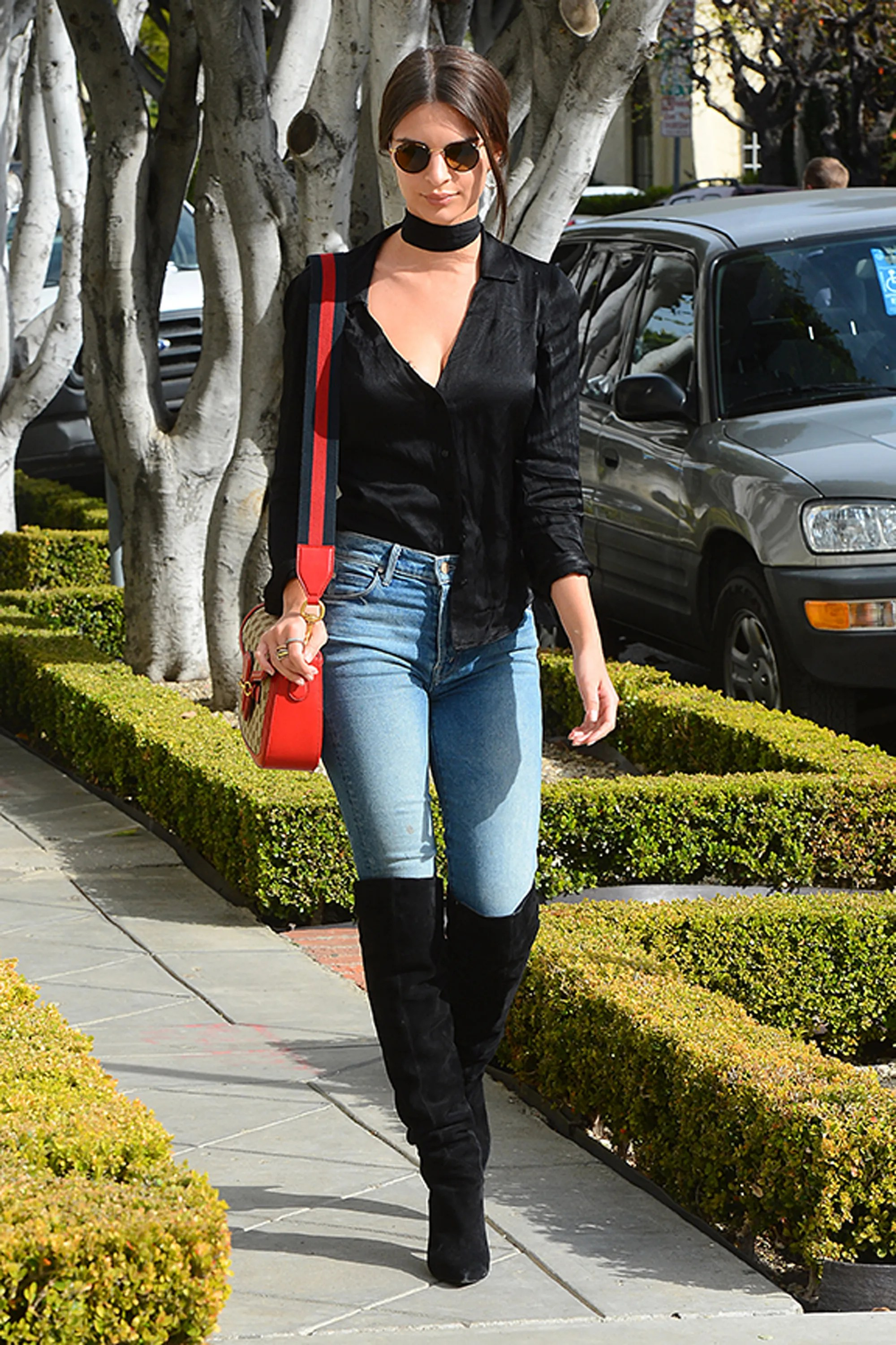 boots over jeans look