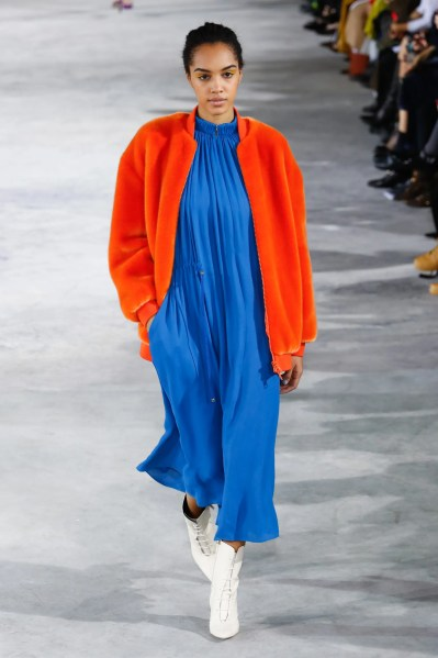 TIBI FALL 2018 NAVY ORANGE AND BLUE - Credit : VOGUE