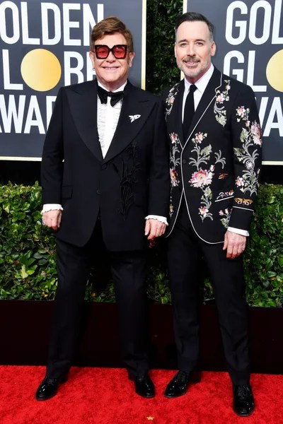 Globurile de Aur 2020 Elton John și  David Furnish