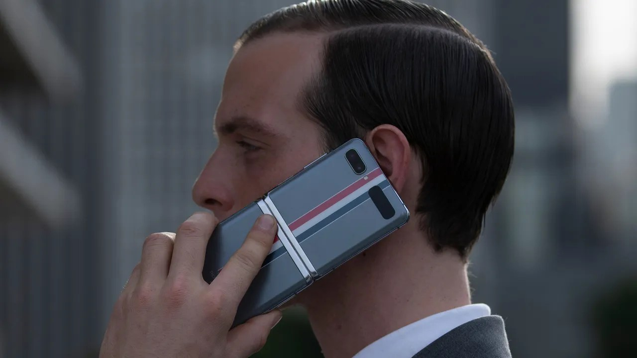 Thom Browne Reveals a Touch Screen Flip Phone With Samsung