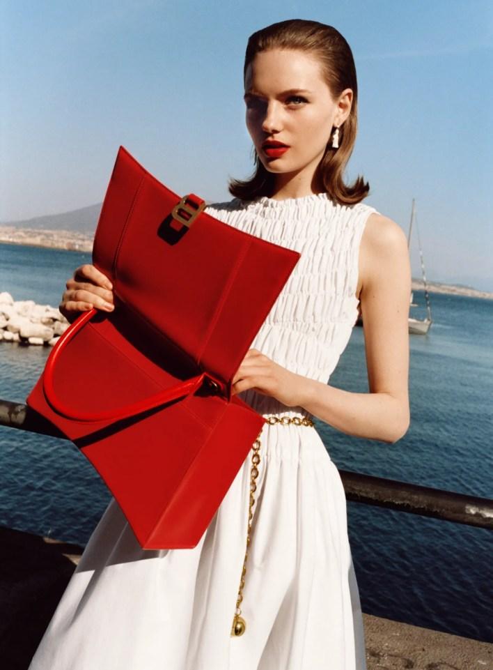 Image may contain Clothing Apparel Human Person Evening Dress Gown Robe Fashion Female and Ruslana Korshunova