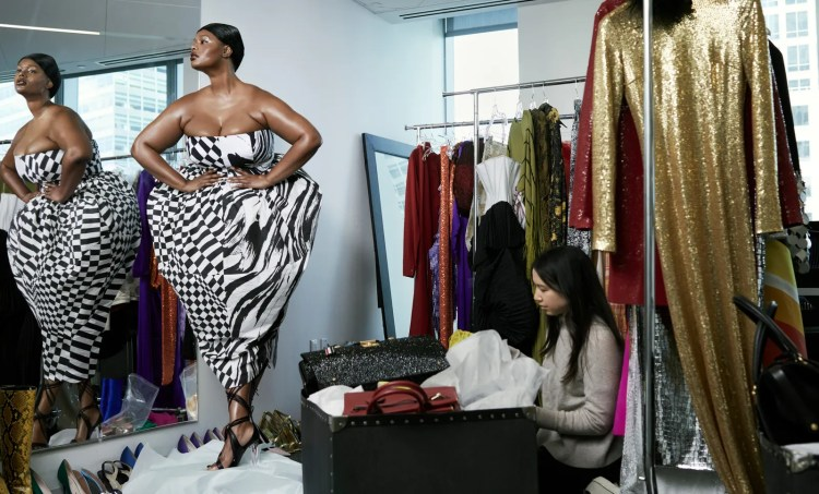 Lets Have a Fit Transforming Vogues storied fashion closet into her personal walkin wardrobe model Precious Lee tries...